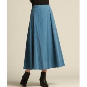 Droite lautreamont/ドロワットロートレアモン シャツコールスカート ブルー M