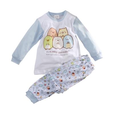魔法Baby 女童 台灣製角落小夥伴授權正版薄長袖居家套裝 k61075