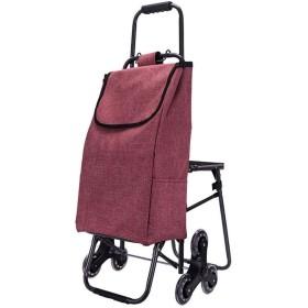 買い物バッグ カート ショッピングカート カートの後ろにシート&6ホイール&食料品階段クライミングカート&防水&シートデザインとショッピングトロリーを折り畳み、176ポンド容量 アウトドア 大容量 おしゃれ プレゼント
