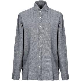 《セール開催中》GIAMPAOLO メンズ シャツ ブラック 43 コットン 100%