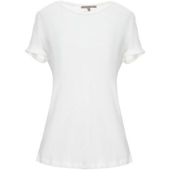 《セール開催中》PATRIZIA PEPE レディース T シャツ ホワイト 1 ポリエステル 50% / レーヨン 50%