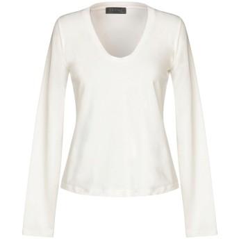 《セール開催中》SATNE レディース T シャツ ホワイト S コットン 100% / セルロイド