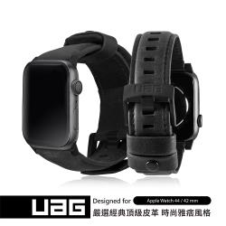 UAG Apple Watch 42/44mm 皮革錶帶-黑