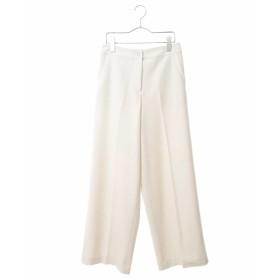 HIROKO BIS ◆【洗える】センタープレスワイドパンツ その他 パンツ,ホワイト