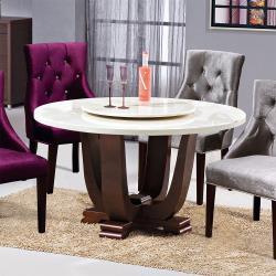 Boden-維爾4.3尺石面圓型餐桌(附轉盤)