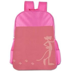 ピンクパンサー足跡は反対です 【中国製】子供用 小学生 調節可能 女の子男の子向け人気の可愛い シンプル ランドセル カバン