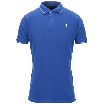 《セール開催中》TRU TRUSSARDI メンズ ポロシャツ ブライトブルー M コットン 98% / ポリウレタン 2%