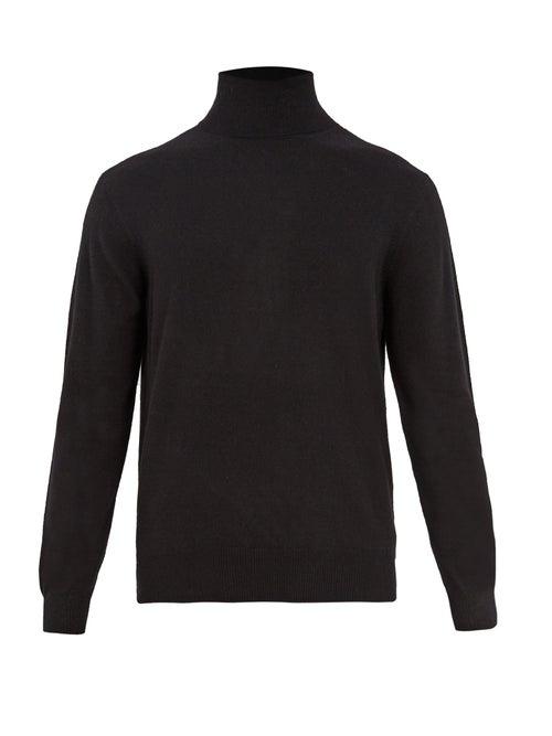 Raey - Roll-neck Cashmere Sweater - Mens - Black