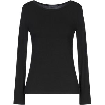 《セール開催中》EMMA BRENDON レディース T シャツ ブラック L レーヨン 95% / ポリウレタン 5%
