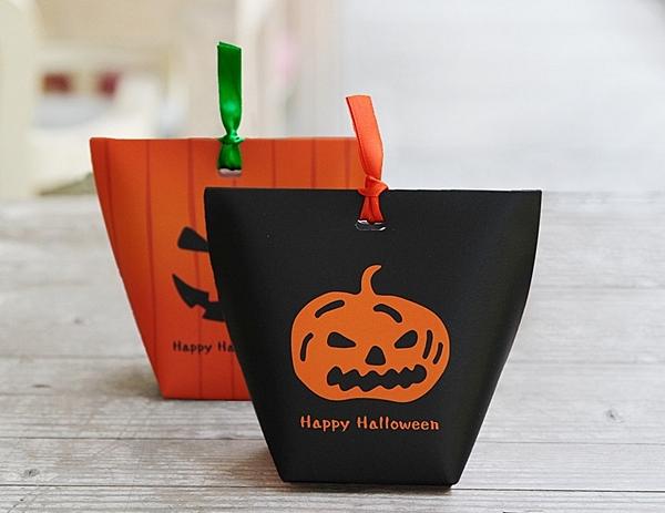 萬聖節mini紙盒 紙袋盒 糖果包裝盒【X067】鬼節禮物盒 餅乾盒 糖果盒 紙盒 萬聖節包裝