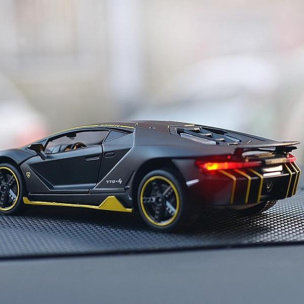 仿真蘭博基尼LP770跑車模型合金汽車擺件兒童玩具汽車內中控裝飾 青木鋪子