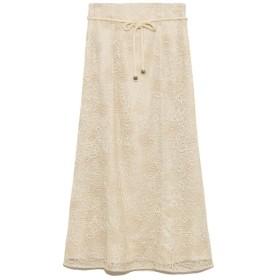 リリーブラウン 刺繍レースマーメイドスカート レディース OWHT 0 【Lily Brown】