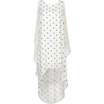 《セール開催中》RELISH レディース ミニワンピース&ドレス ホワイト S ポリエステル 100%