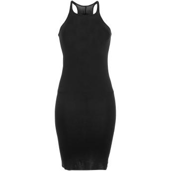 《セール開催中》DRKSHDW by RICK OWENS レディース ミニワンピース&ドレス ブラック L コットン 100%