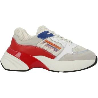 《セール開催中》PINKO レディース スニーカー&テニスシューズ(ローカット) ライトグレー 36 革 / 指定外繊維