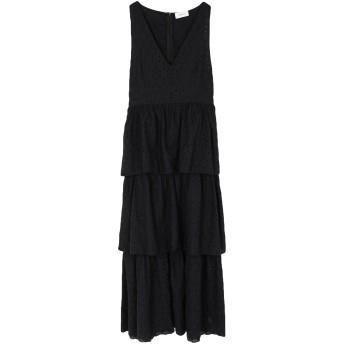 《セール開催中》VICOLO レディース ロングワンピース&ドレス ブラック S コットン 100%