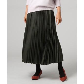UNTITLED / アンタイトル 【洗える】シルデューサテンプリーツスカート