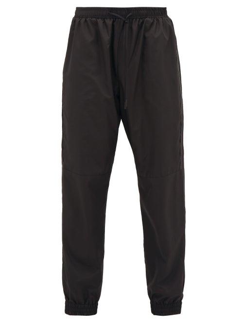 Fendi - Ff-logo Piping Trackpants - Mens - Black