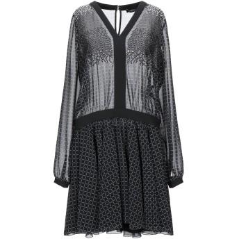 《セール開催中》BYBLOS レディース ミニワンピース&ドレス ブラック 40 ポリエステル 100%
