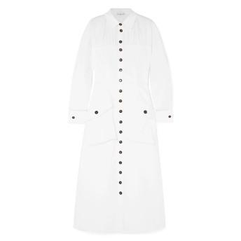 《セール開催中》REJINA PYO レディース 7分丈ワンピース・ドレス ホワイト 6 コットン 97% / ポリウレタン 3%