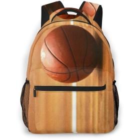 男女兼用のかわいい カジュアルバック パック リュックサック ファッションバッグ 旅行バックパック カレッジバッグ スポーツ ハイキング アウトドア 人気 高校生 中学生 大学生 通学通勤 大容量 、バスケットボール