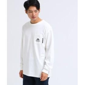 BASE STATION/ベースステーション KANGOL カンゴール 別注 ビッグ 長袖 ポケット Tシャツ アイボリー(004) 03(L)