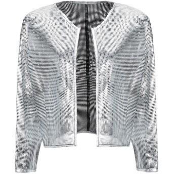 《セール開催中》ELEVEN. ONE レディース テーラードジャケット シルバー L 革 100%