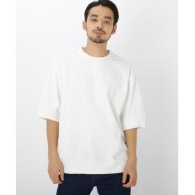 ベースステーション ビッグシルエット リブ付き 半袖 Tシャツ メンズ アイボリー(004) 02(M) 【BASE STATION】