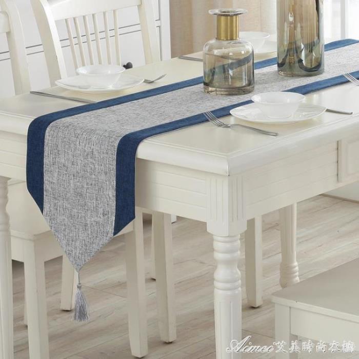 現代簡約桌旗中式禪意桌巾北歐茶桌布藝棉麻餐桌裝飾布床旗中國風