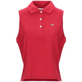 《セール開催中》LACOSTE レディース ポロシャツ レッド 38 コットン 100%