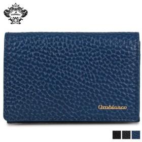 オロビアンコ Orobianco カードケース 名刺入れ 定期入れ メンズ BUSINESS CARD HOLDER ブラック ネイビー ブルー 黒 ORS-021008