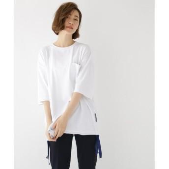 BASE STATION / ベースステーション ビッグシルエット 裾テープ 半袖 Tシャツ