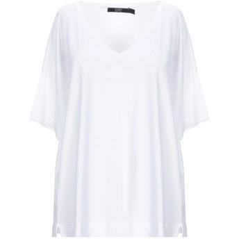 《セール開催中》SEVENTY SERGIO TEGON レディース T シャツ ホワイト 46 テンセル 67% / コットン 33%