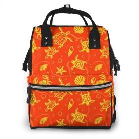 万洋 最新旅行 通勤 個性的 多機能レジャーバッグ リュック マザーズバッグ ベビー用品収納 出産準備 防水盗難防止ポケット シンプル大容量手提げ袋 かわいい -カメ