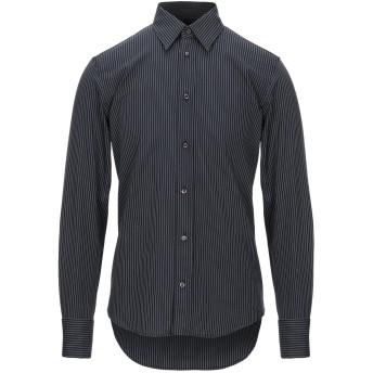 《セール開催中》JOHN RICHMOND メンズ シャツ ブラック 46 コットン 100%