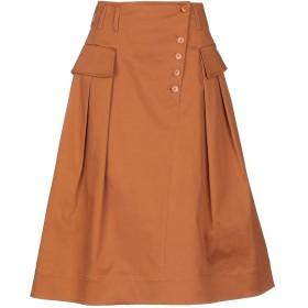 《セール開催中》ALBERTA FERRETTI レディース 7分丈スカート 赤茶色 42 コットン 98% / 指定外繊維 2%