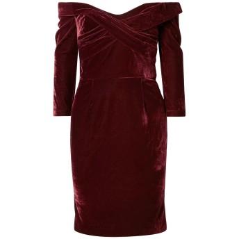 《セール開催中》MARCHESA NOTTE レディース ミニワンピース&ドレス ボルドー 0 ポリエステル 92% / ポリウレタン 8%