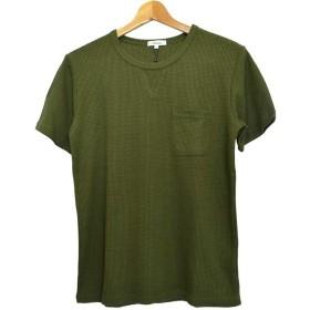 Tシャツ - Style Block MEN 半袖Tシャツ カットソー Tシャツ クルーネック 丸首 無地 半袖 ワッフル ポケット付き メンズ ホワイト ネイビー オリーブブラック グレー メンズ トップス