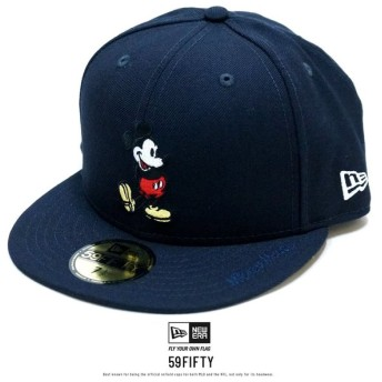 ニューエラ NEW ERA コラボ キャップ 帽子 メンズ レディース 59FIFTY DISNEY ディズニー ミッキーマウス ネイビー (12109130) 父の日