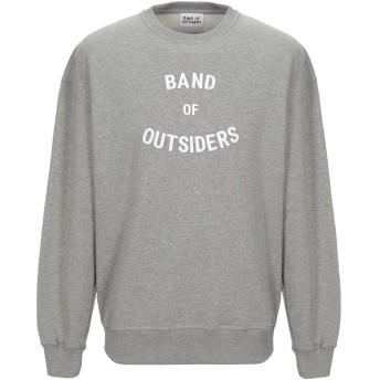 《セール開催中》BAND OF OUTSIDERS メンズ スウェットシャツ ライトグレー S コットン 100%