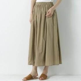 インド綿のキャンブリックボリュームスカート