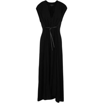 《セール開催中》ANTONELLI レディース 7分丈ワンピース・ドレス ブラック 40 レーヨン 100%