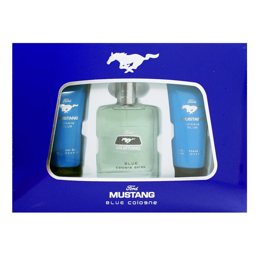 ford mustang cologne 福特野馬 藍調男香禮盒(淡香水100ml+沐浴膠+鬍後乳)