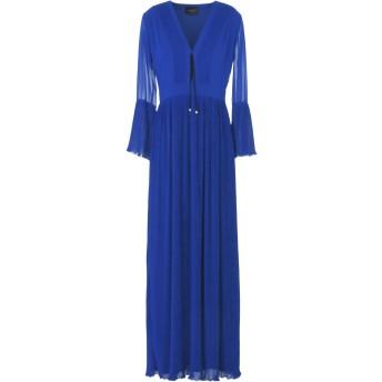 《セール開催中》ATOS LOMBARDINI レディース ロングワンピース&ドレス ブルー 42 ポリエステル 100%