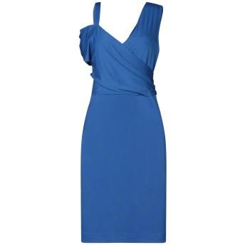 《セール開催中》SANDRO FERRONE レディース ミニワンピース&ドレス ブルー S ポリエステル 95% / ポリウレタン 5%