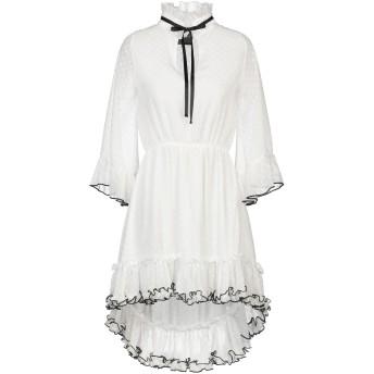 《セール開催中》SHIKI レディース ミニワンピース&ドレス ホワイト S ポリエステル 100%