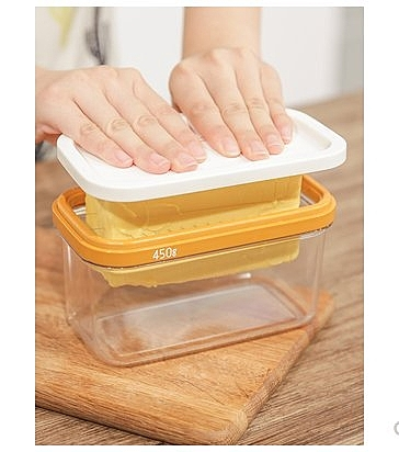 日本進口黃油盒牛油切割器帶蓋芝士奶酪收納盒冰箱黃油切割保鮮盒