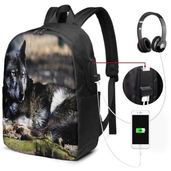 バックパック USB ポート搭載 17インチPC対応 ウルフレストステイ 大容量ビジネスリュック 通勤 通学 出張 旅行 メンズ レディース