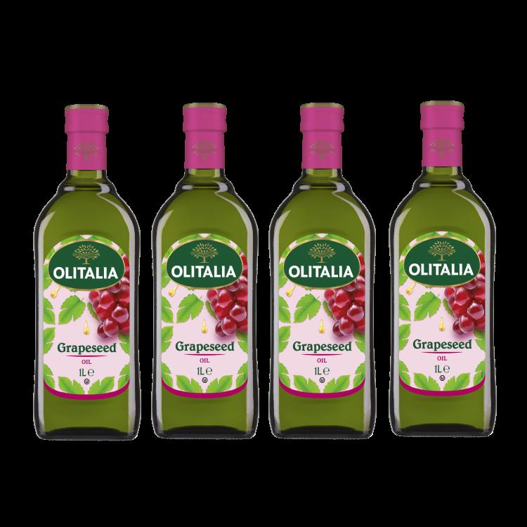 奧利塔葡萄籽油1公升4瓶組(可選擇搭贈奧利塔禮盒)(限配送台灣本島地區)