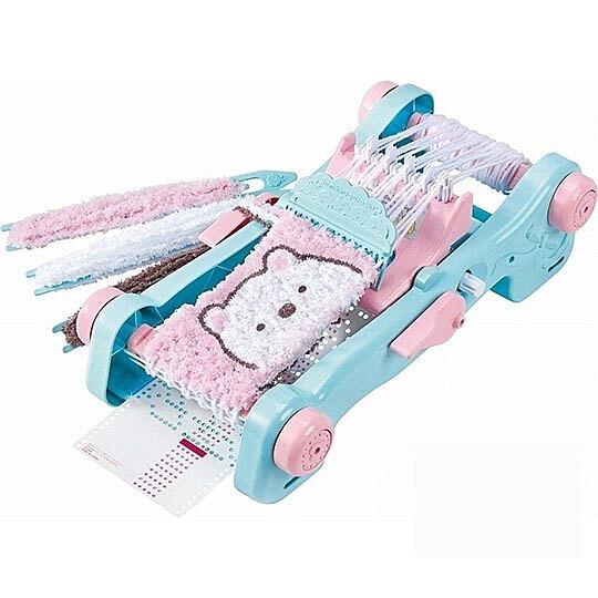 〔小禮堂〕角落生物 豪華DIY編織圍巾製作玩具組《藍粉》勞作玩具.美勞玩具 4904810-13279